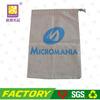 cheap custom cotton linen drawstring bag