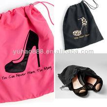 Embroidery logo cotton shoe bag OEM/ODM Manufacturer supply