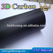 Hot durable black carbone/car carbon fiber film/3d carbon vinyl