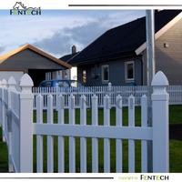 Fentech brand Innovative design plastic vinyl garden fence Manufacturer