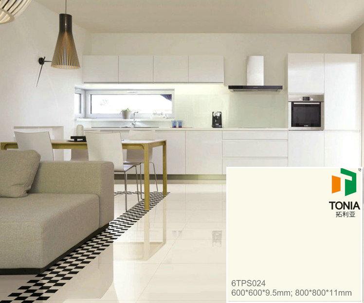Ivory Colored Vitrified Floor Tiles Living Room Showcase Design Floor Tiles I