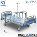 Sk032-1 sola manivela semi- fowler ajustable de la cama, hospital cabecera de la cama y tabla de los pies