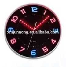 Round black LED decorative digital wall clock, wall clocks wholesale