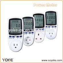 digital energy meter socket ,home use energy meter plug with Large LCD display