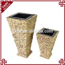 S&D square shaped iron sheet decorative artificial flower pot