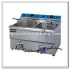 K032 Counter Top 2 Tanks Electric Industrial Deep Fryer