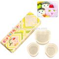 Eco- ambiente de bebé de plástico& bear forma de bola de arroz del molde de amor de los niños