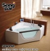 1500x1500x660mm Bubble Massage Bathtub with Waterproof LCD TV