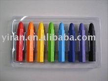 8 Pcs Hexagon Shape Crayons in Blister Tray