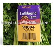 paper printed vegetables twist ties/clipband