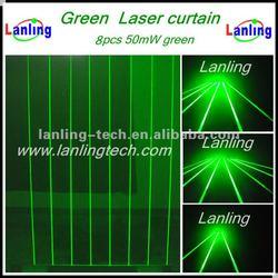 DJ Laser Curtain/Laser Net---8 Heads Green Laser Light Curtain (LN563)