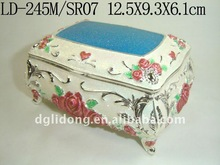 Lovely New Style Silver Color Metal Jewelry Case 2012 new product