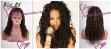 Cheap hotsale indian remy hair highlights full lace wig