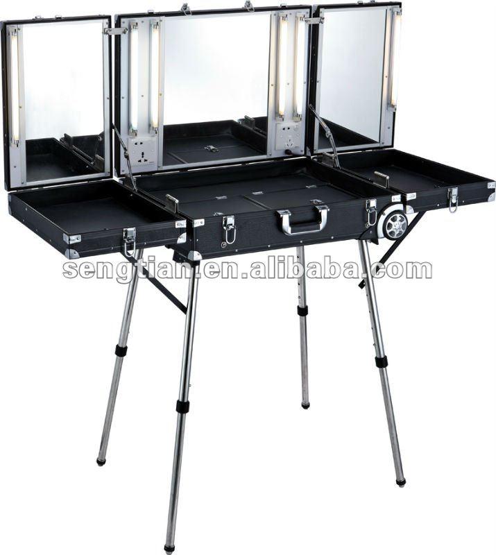 make up tafel met licht en spiegel d9680k cosmetische tassen en koffers product id 544923055. Black Bedroom Furniture Sets. Home Design Ideas