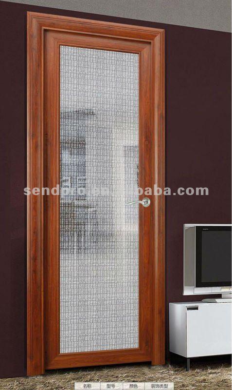 Puertas De Baño Interior:Cristal del arte interior decorativo puertas de baño de venta-Puerta