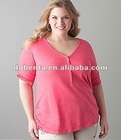 new design fashion for fat girls plus sizes t shirt fat women t shirt fat women top fat girls dress in apperal