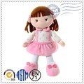 la promoción de alta calidad de moda la venta de la parte superior de felpa adorable bebé de color rosa de la muñeca