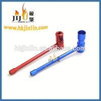 Yiwu jiju JL-109 Aluminum fashion long stem style herb smoking pipe