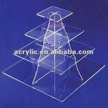 2012 hot elegant square multilevel acryl display