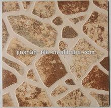 Indoor textured white horse ceramic floor tile 400x400mm