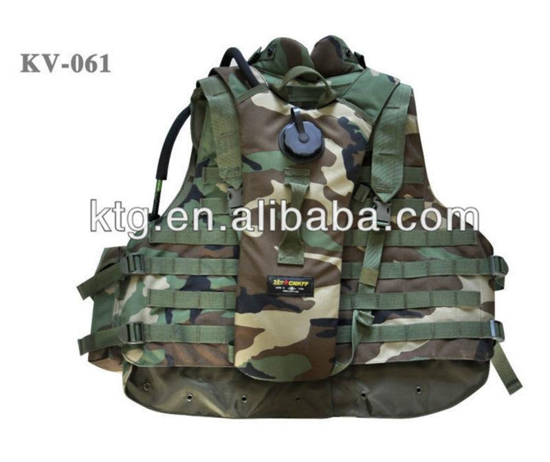 التمويه العسكرية سوات سترة مع حقيبة مياه الشرب tectical
