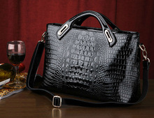2015 Popular crocodile real leather business women handbag/ lady dispatch bag / big brand tote bag
