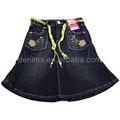 Las mujeres cj-113 oscuro color de moda de estilo caliente de la venta corta pantalones vaqueros de mezclilla faldas de tela