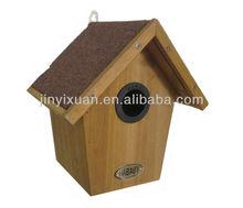 Waterpoof Wooden Bird Cage / Bird Nest House / Wood Bird Feeder