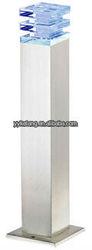 Morden crystal cover square stainless steel 12V low voltage or 220V 240V outdoor LED garden light