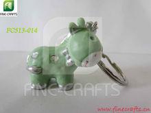 polyresin personalizzato 3d cavallo statua souvenir portachiavi vuoto