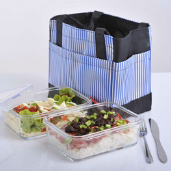 Microwave and oven safe borosil glass wholesale lunch boxes