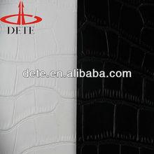 Crocodile skin PU leather for women shoe sofa and raw material of furniture