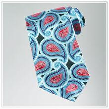 Custom men's print silk necktie