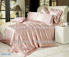 Luxury Pink Jacquard Silk Bedding Set