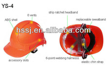 2014 hot selling hart hat safety ventilated hard hat ABS 6-point webbing hardness safety helmet