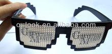 Code Programmer Pixelated 8-Bit Black Sunglasses ,Retro Novelty Nerd Geek Gamer Sunglasses with pinhole lens Logo