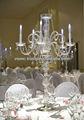 Cristal de la boda de la boda de vidrio candelabro pieza central de la decoración en la venta 80/90/100/110/120 cms para la fiesta/decoración de la boda