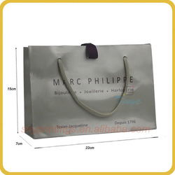 Luxury style paper shopping bag for suit