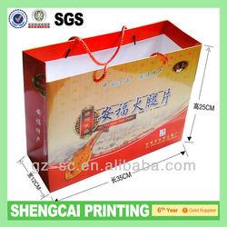Machine make paper bag advertise paper bag