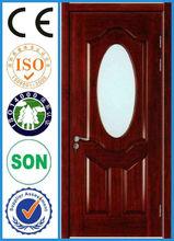 2013 Popular hdf door skin coated with nature wooden veneer