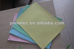 pink yellow green blue bond paper