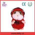 Amusing Chinese speaking plush hamster