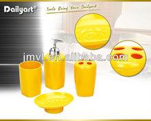 2015 New arrival fresh design plastic bathroom accessories set