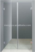 double door frameless bathroom tempered glass shower door