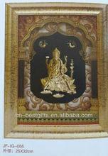 3D gold foil india god picture