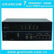 8 FXS FXO + 4 FE over Fiber Optic PCM Multiplexer