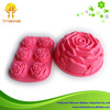 Fashional and vivid rose shaped silicone soap molds