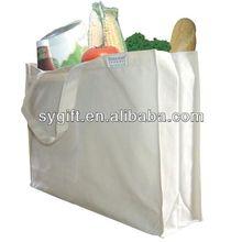 simple purple cotton shopping bag