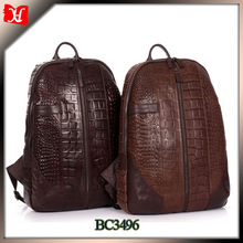 High quality leather school bag vintage men leather backpack laptop backpack
