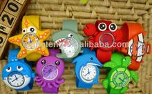 Novelty Kids Watch Lovely Silicon Rubber Slap Watch Multi Color